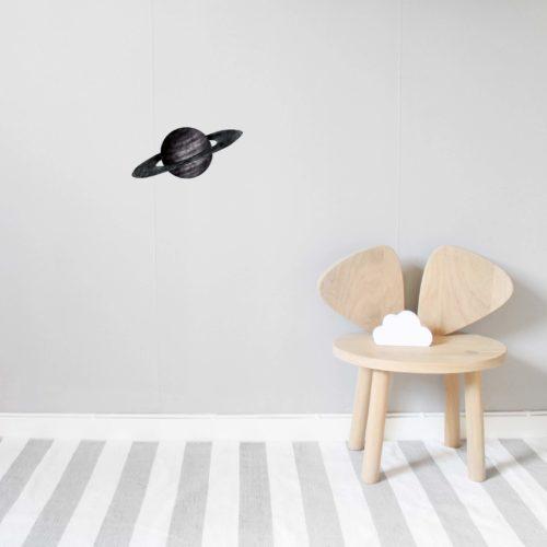 Black Saturn wall decal for nursery or kids room