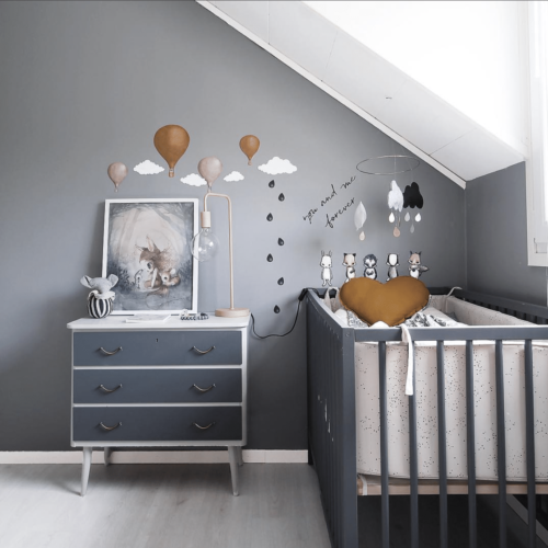 Stickstay black drops nursery wall stickers decals for kids bedrooms