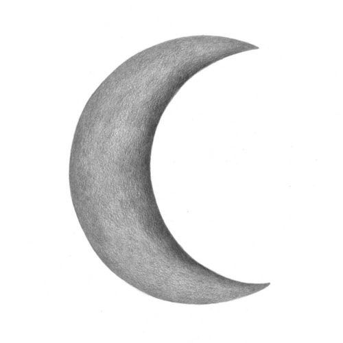 Dark Grey Crescent Moon wall sticker