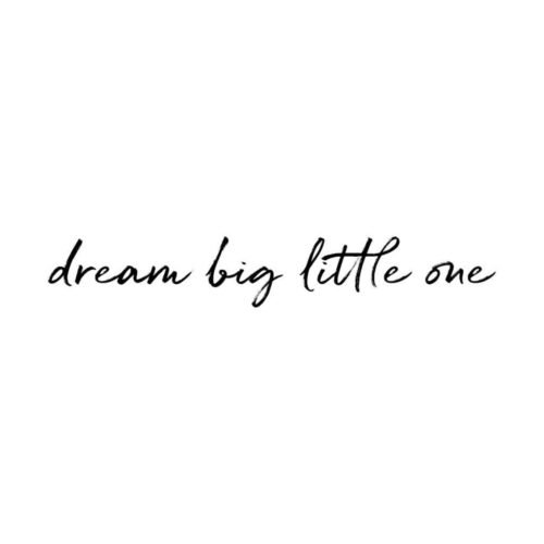 Dream Big Little One wall decal