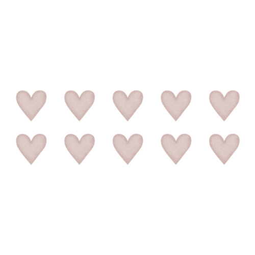 Dusty Pink Small Hearts wall decals for nursery