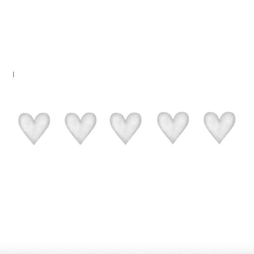 Light Grey Big Hearts wall decals for nursery