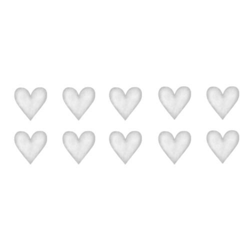 Light Grey Small Hearts wall decals for nursery