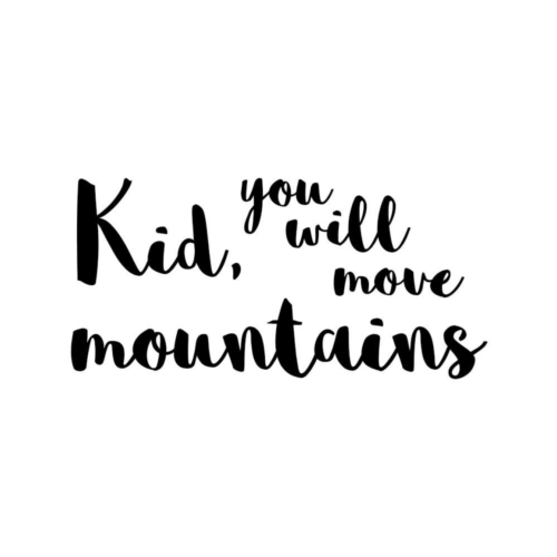 Move Mountains wall decal for nursery