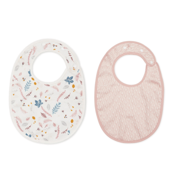 Pack of two Cam Cam baby feeding bibs