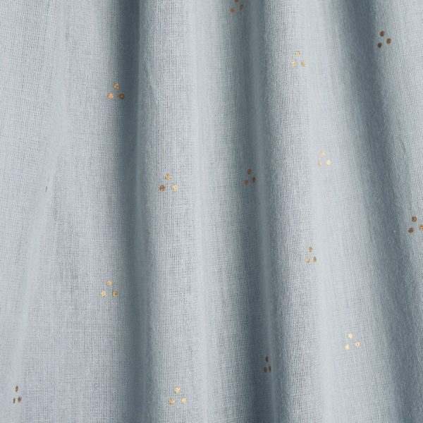 Dot blue mist bed canopy for nursery fabric details