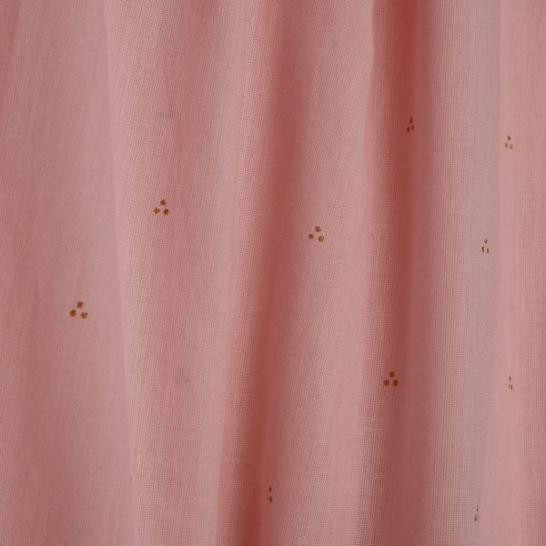 Bed canopy in dot old rose fabric details