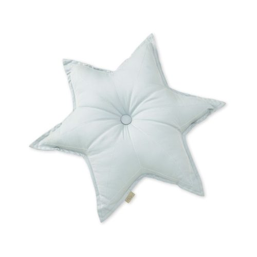 Decorative star shaped cushion in blue mist