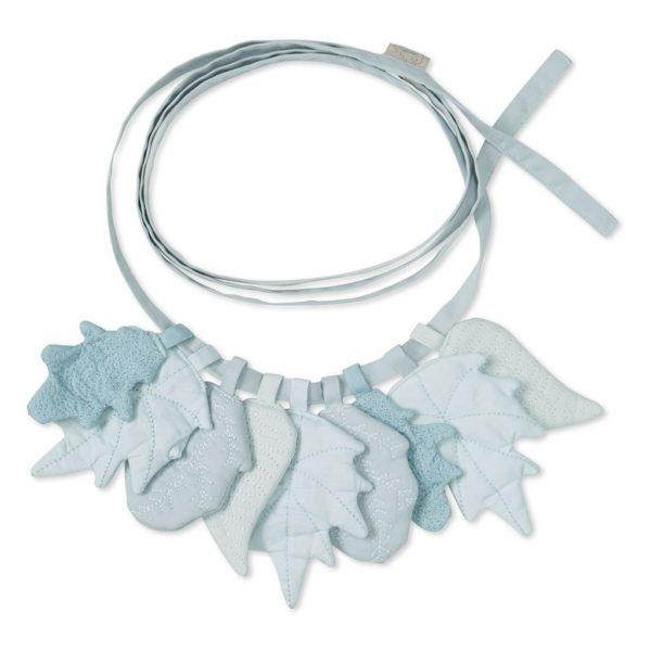 Nursery garland leaves in mix blue