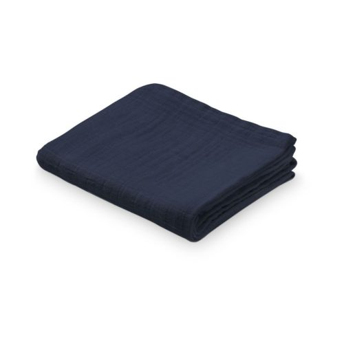 Organic muslin cloth for baby in navy blue
