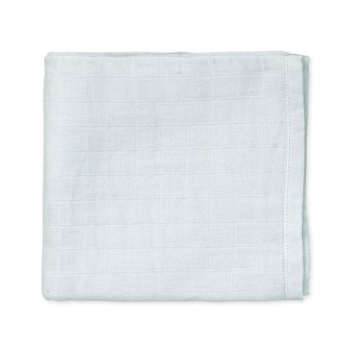 Baby blue organic muslin cloth fabric details