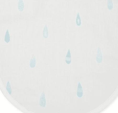 Raindrops baby feeding bib fabric details