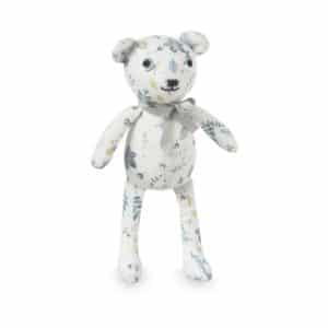 Teddy Bear Pressed Leaves Blue