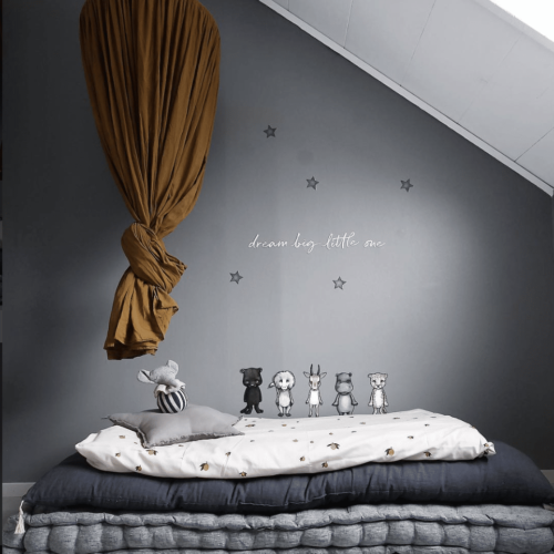 Stickstay dream big white writing nursery wall sticker decal for kids bedrooms