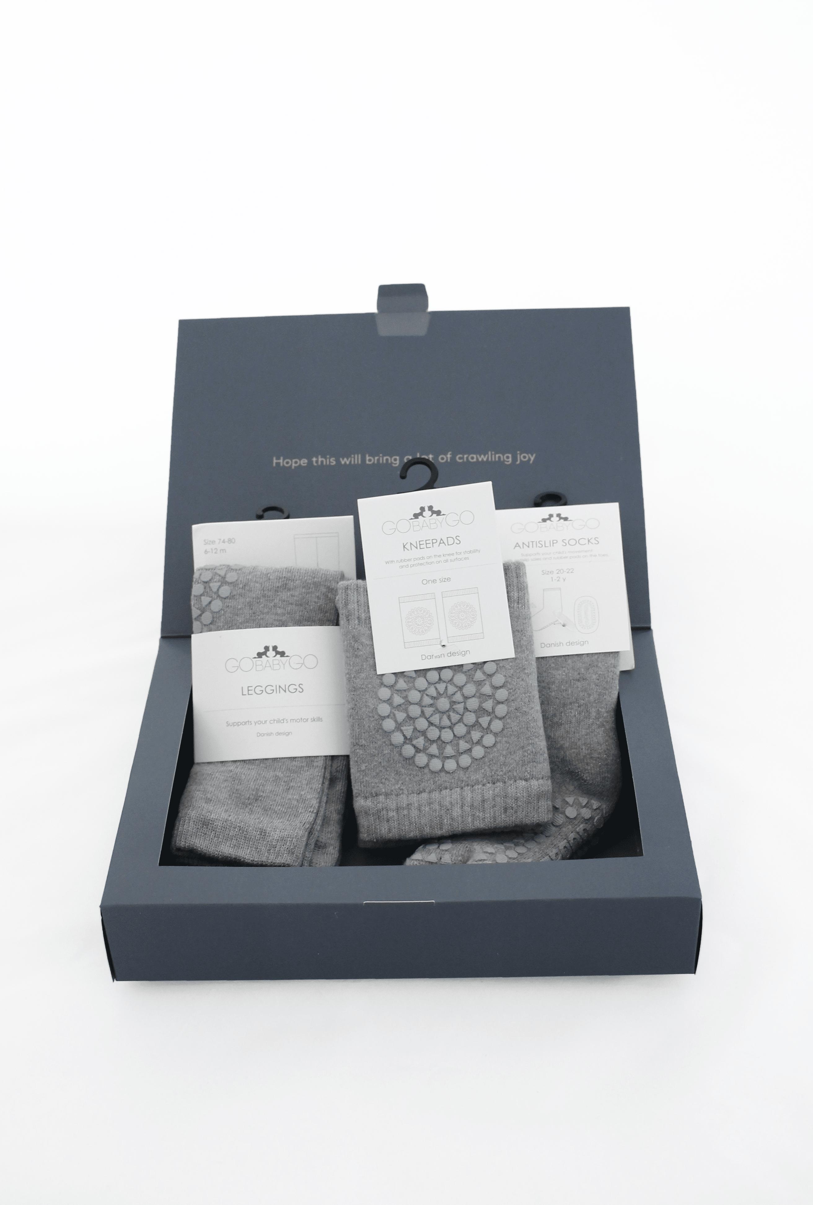 bb1e3dfe GoBabyGo baby crawling starter kit gift pack in grey melange