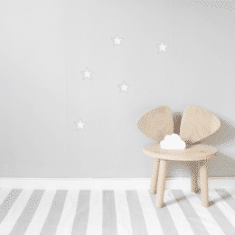 White big stars wall decals