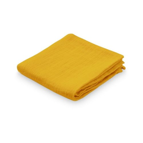 Organic cotton muslin cloth for nursery in mustard