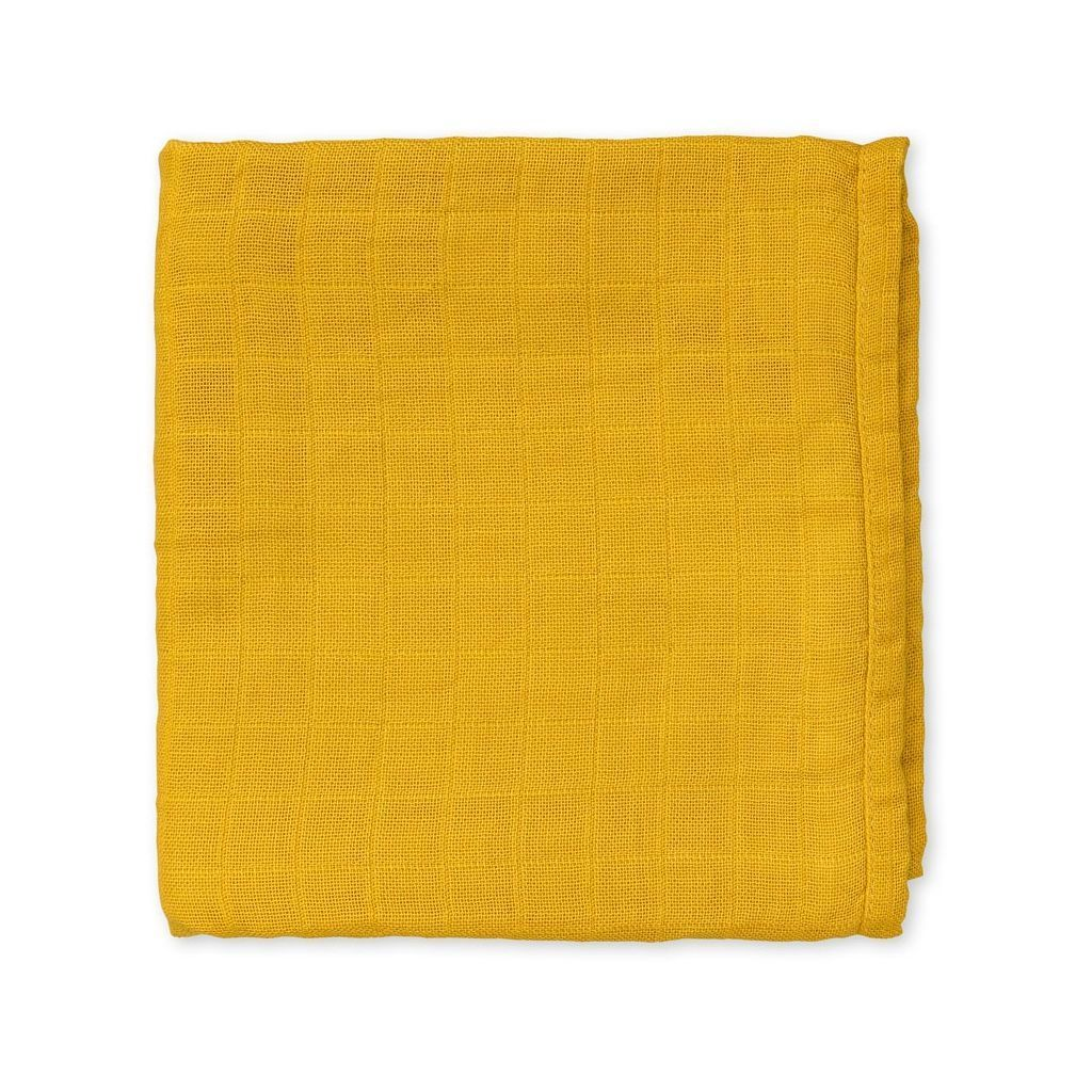 Organic cotton baby muslin wrap baby cloth for nursery in mustard