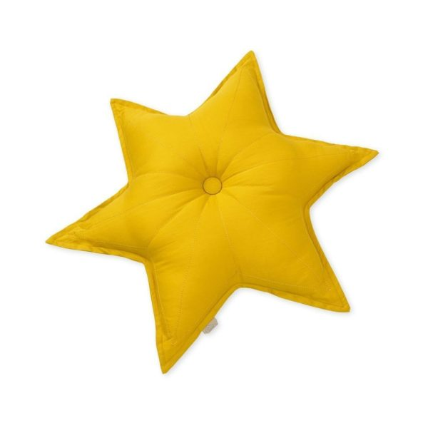 Cam Cam Copenhagen decorative star cushion for nursery in mustard
