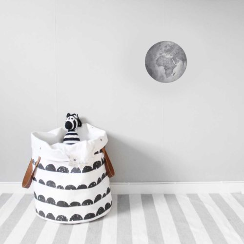 Grey Earth kids wall sticker in nursery