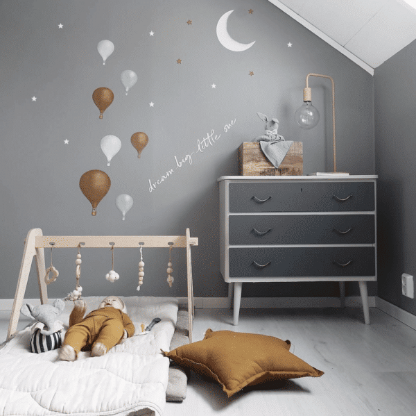 Stickstay mint balloons nursery wall stickers decals for kids bedrooms