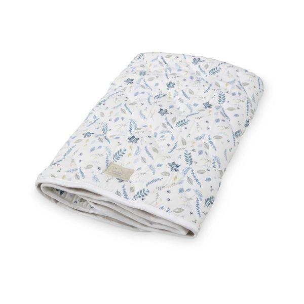 Cam Cam Copenhagen baby blanket pressed leaves blue kids quilt