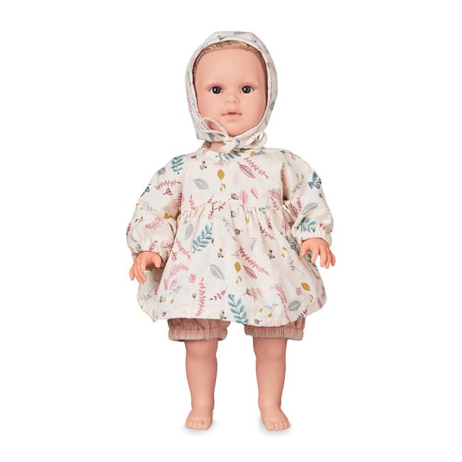 Cam Cam baby doll in pressed leaves rose bonnet dress and shorts matching clothing set