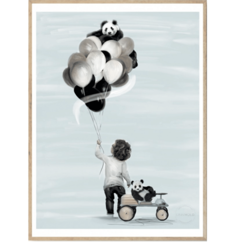 Little Adam boys bedroom nursery wall art print for kids