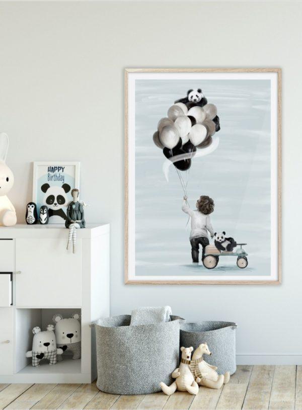 Little Adam Linn Wold fine art print kids bedroom decor in nursery room