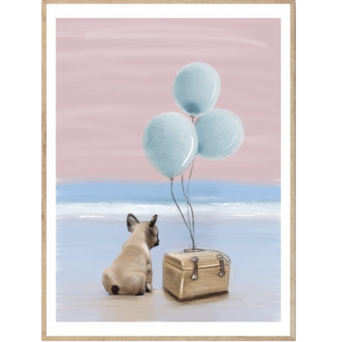 Little Frankie nursery wall art print for kids