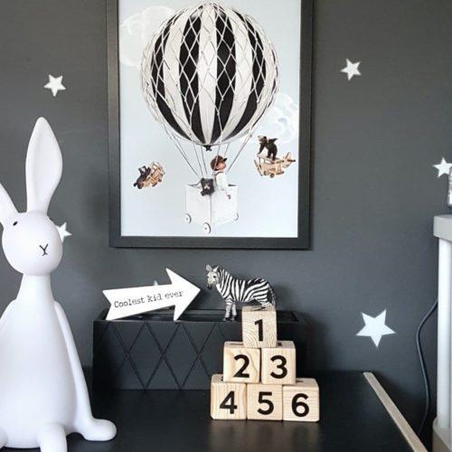 Little Tobias fine art print with nursery decor