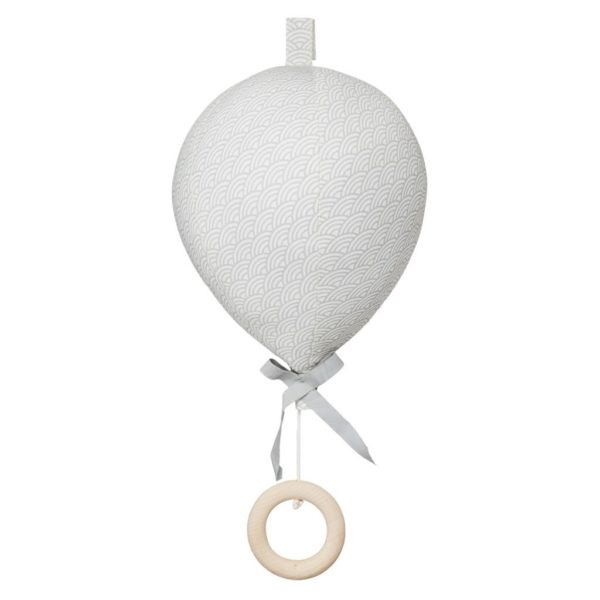 Cam Cam Balloon Music Mobile for nursery in grey wave