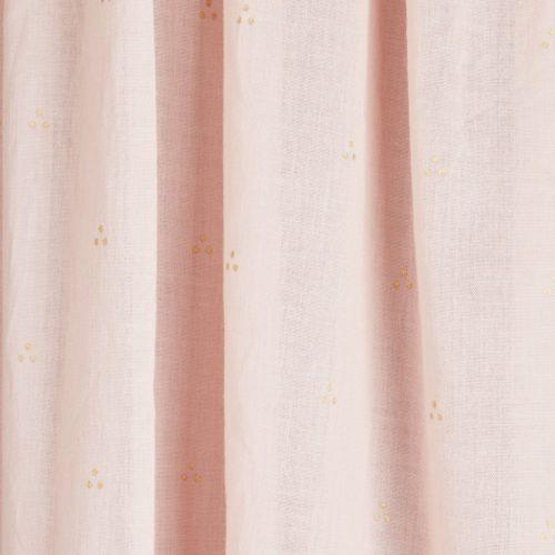 Cam Cam nursery canopy dot blossom pink fabric details