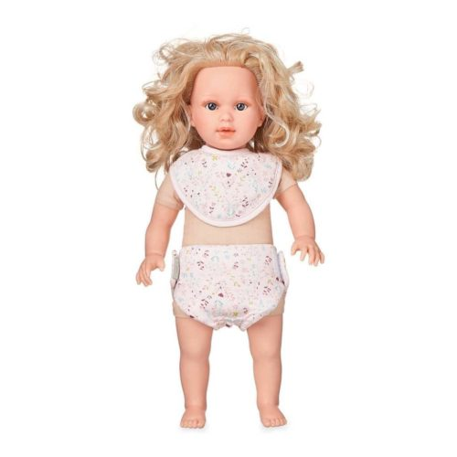 Cam Cam dolls bib and diaper set for baby doll in fleur pink