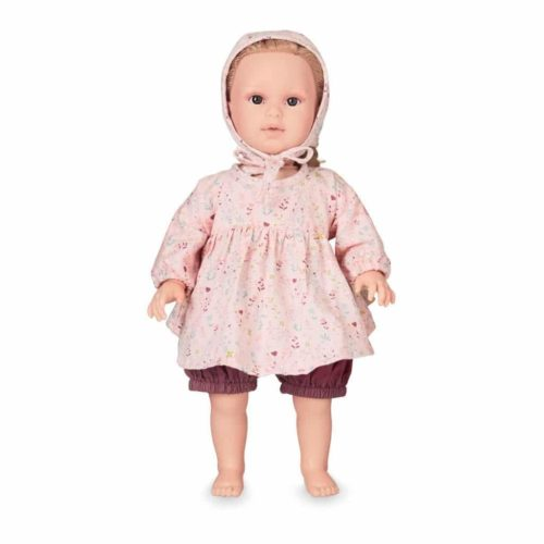 Cam Cam dolls clothing set and bonnet for baby doll in fleur pink