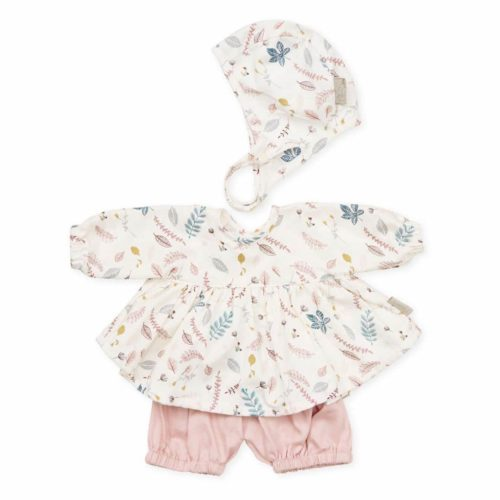 Cam Cam dolls bonnet shirt and shorts in pressed leaves rose