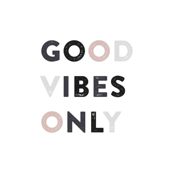 Good vibes only nursery wall sticker for kids bedroom decor