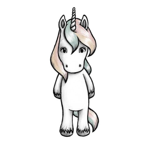 Joy the unicorn Stickstay wall sticker for kids bedroom decor