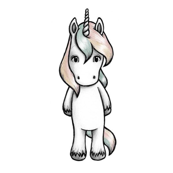 Joy the unicorn Stickstay wall sticker for kids bedroom decor