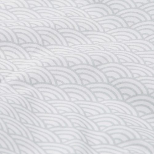 Fossflakes nursing and breastfeeding pillow cover grey wave fabric details