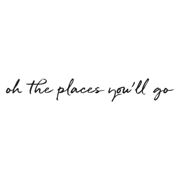 Oh the places you'll go nursery wall decal for kids bedroom decor