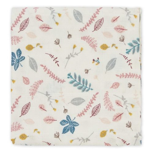 Printed Cam Cam muslin cloth in pressed leaves rose