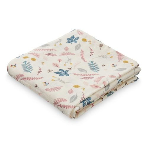 Cam Cam muslin cloth for babies in pressed leaves rose