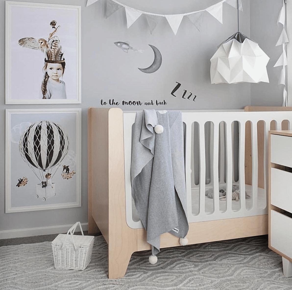 Nursery design with Linn Wold kids art prints