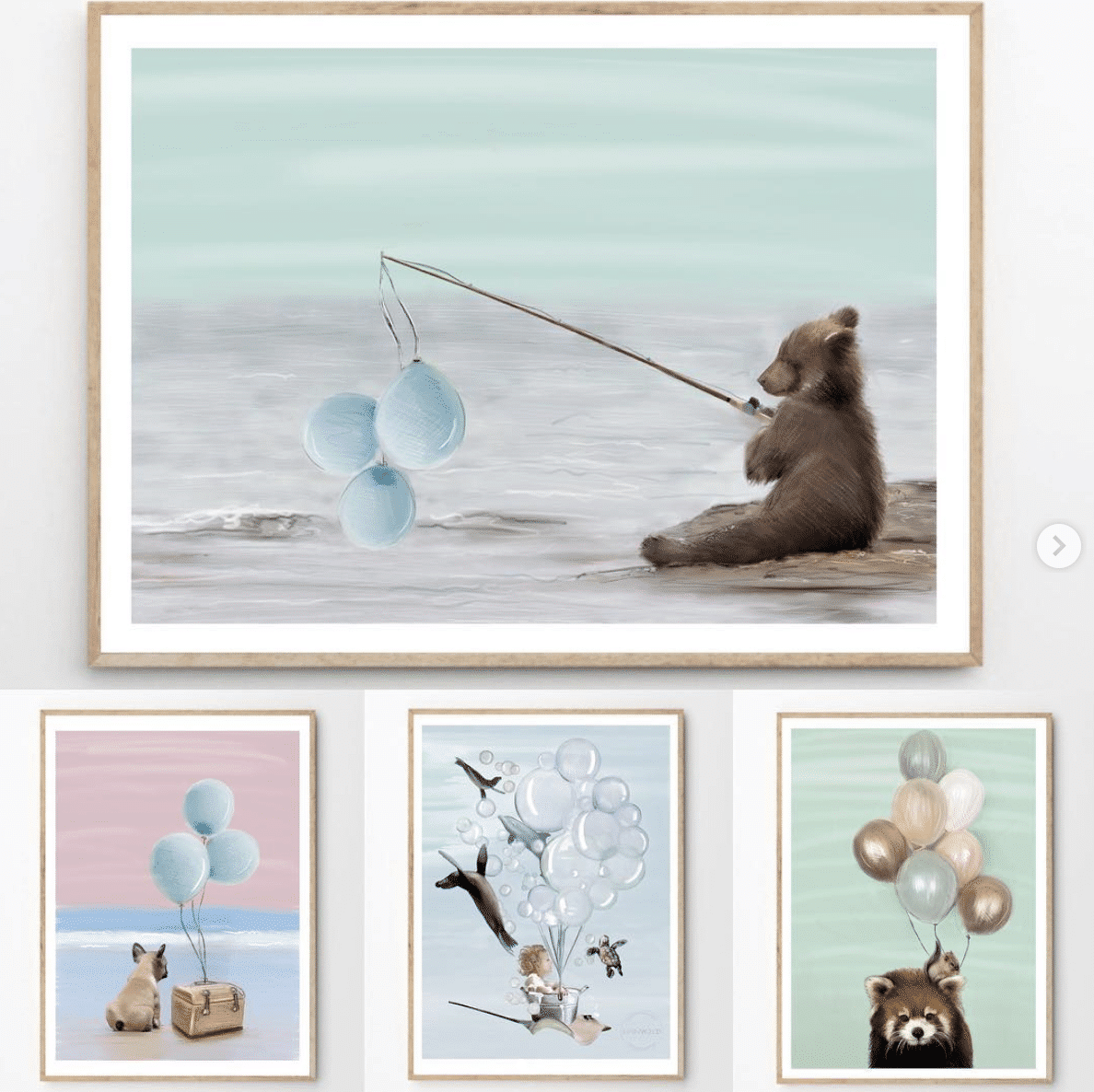 Boy and girl nursery wall prints