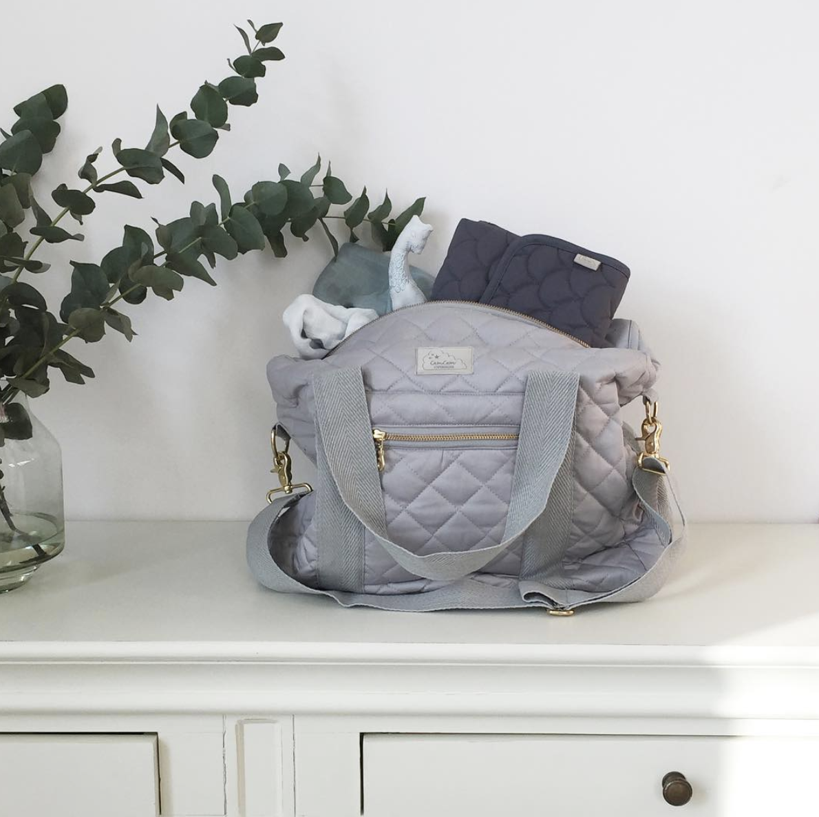 Mums nappy bag with portable changing mat
