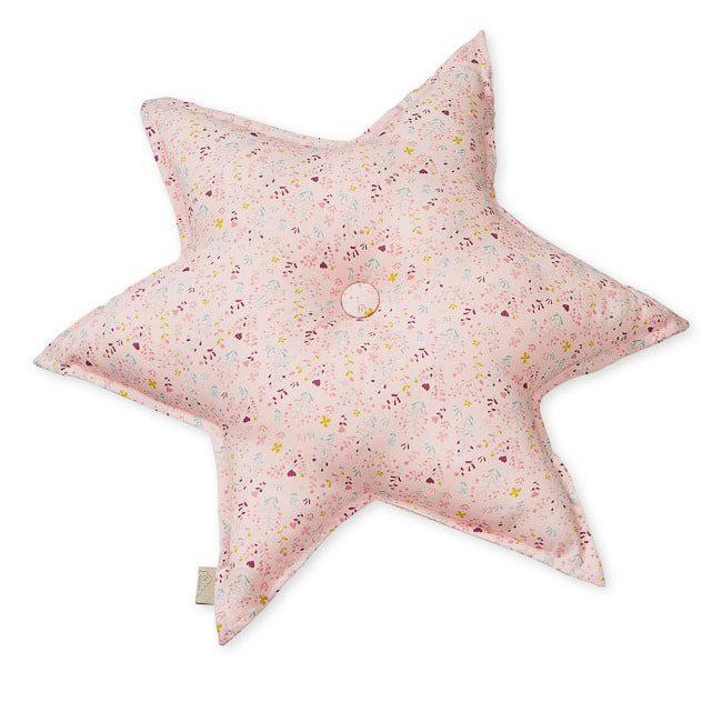 Cam Cam star shaped decorative cushion for nursery fleur pink