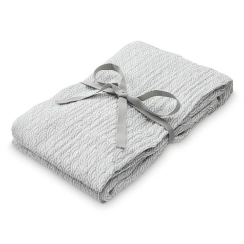 Cam Cam muslin swaddle cloth for babies in grey wave