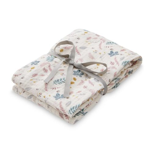 Cam Cam muslin swaddle cloth for babies in pressed leaves rose