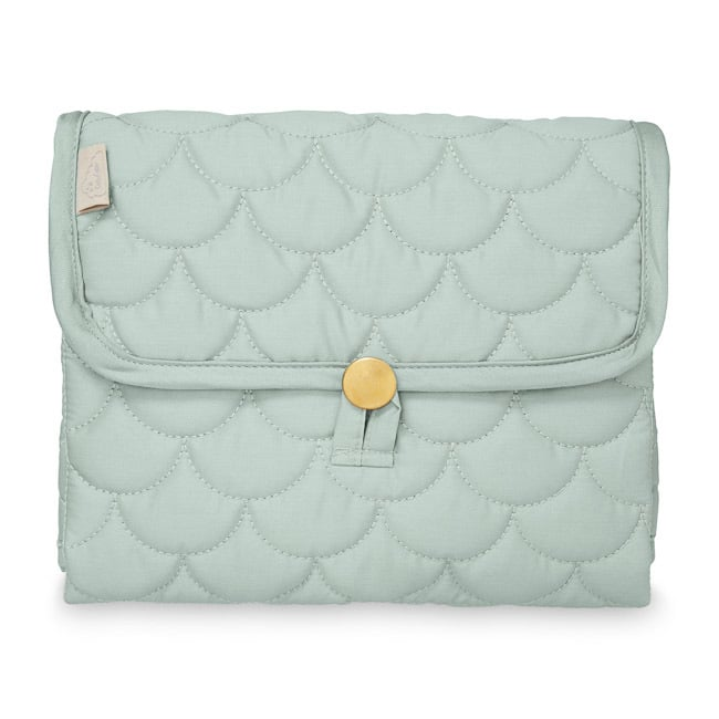 Cam Cam travel changing mat for baby misty green portable
